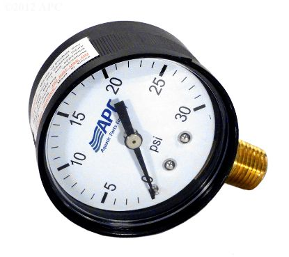 .25IN TAP 0-30# BOTTOM MT PRESSURE GAUGE APCPG3024L