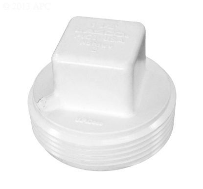 1.5IN CLEANOUT PLUG RAISED NUT DWV PVC D106-015