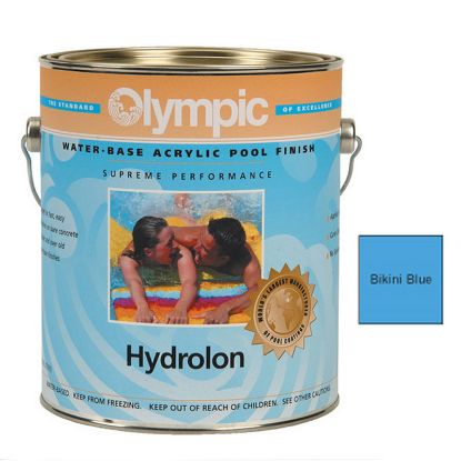 1 GAL HYDROLON ACRYLIC PAINT BIKINI BLUE OLYMPIC KELLEY 713