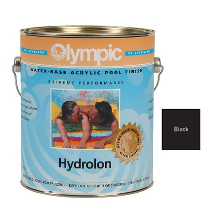 1 GAL HYDROLON ACRYLIC PAINT BLACK OLYMPIC KELLEY 717 GALLON