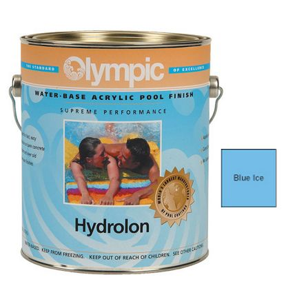 1 GAL HYDROLON ACRYLIC PAINT BLUE ICE OLYMPIC KELLEY 712 GALLON