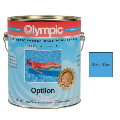 1 GAL OPTILON SYNTHETIC RUBBER BASE BIKINI BLUE OLYMPIC  853 GALLON
