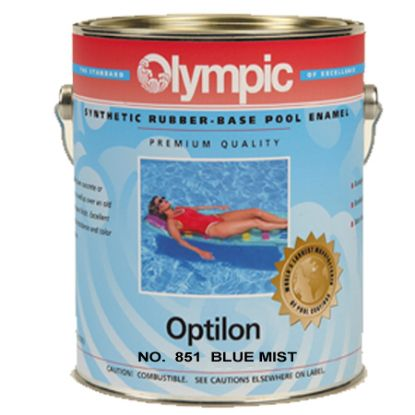 1 GAL OPTILON SYNTHETIC RUBBER BASE BLUE MIST OLYMPIC KELLEY 851