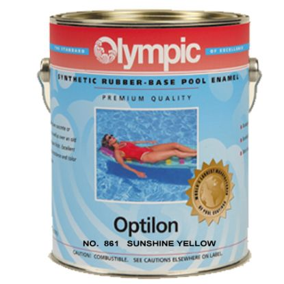1 GAL OPTILON SYNTHETIC RUBBER BASE SUNSHINE YELLOW OLYMPIC  861