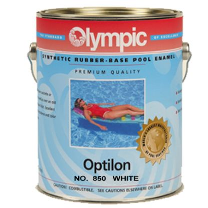 1 GAL OPTILON SYNTHETIC RUBBER BASE WHITE OLYMPIC KELLEY  850 GALLON