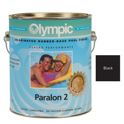 1 GAL PARALON 2 ENAMEL RUBBER BASE BLACK OLYMPIC KELLEY  297