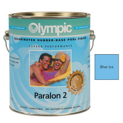 1 GAL PARALON 2 ENAMEL RUBBER BASE BLUE ICE OLYMPIC KELLEY  291 GALLON