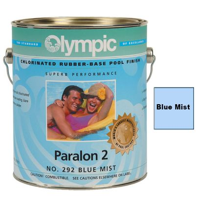 1 GAL PARALON 2 ENAMEL RUBBER BASE BLUE MIST OLYMPIC KELLEY  PA296