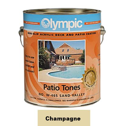 1 GAL PATIO TONE CHAMPAGNE DECK COATING OLYMPIC KELLEY 469W GALLON