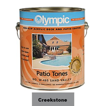 1 GAL PATIO TONE CREEKSTONE DECK COATING OLYMPIC KELLEY 466W GALLON