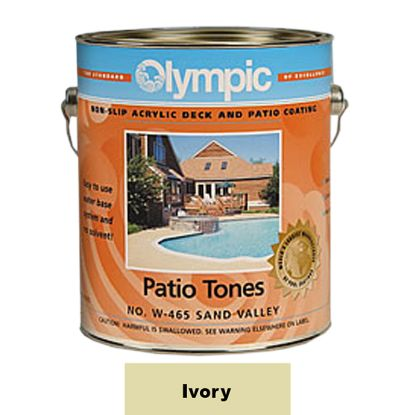 1 GAL PATIO TONE IVORY DECK COATING OLYMPIC KELLEY 475W GALLON