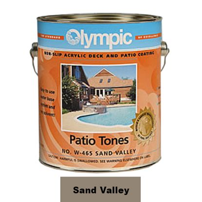 1 GAL PATIO TONE SAND VALLEY DECK COATING OLYMPIC KELLEY 465W GALLON