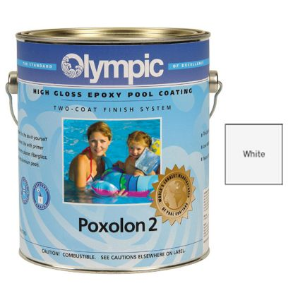 1 GAL POXOLON 2 EPOXY WHITE PAINT OLYMPIC KELLEY FOR PLASTER 2222 GALLON