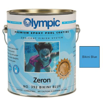 1 GAL ZERON 1 COAT EPOXY BIKINI BLUE OLYMPIC KELLEY PAINT 392 GALLON