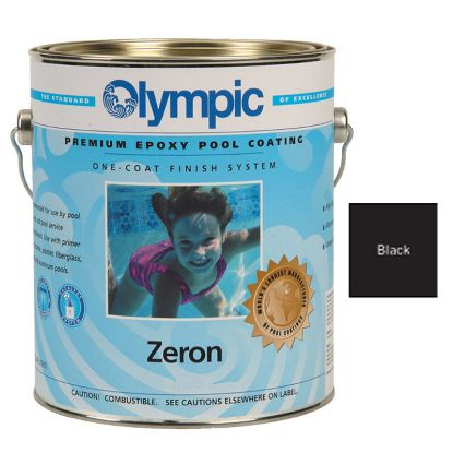 1 GAL ZERON 1 COAT EPOXY BLACK OLYMPIC KELLEY PAINT 399 GALLON