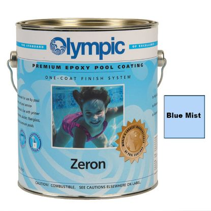 1 GAL ZERON 1 COAT EPOXY BLUE MIST OLYMPIC KELLEY PAINT 395 GALLON