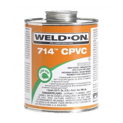 1 QT 714 GRAY CPVC CEMENT IPS #10131 714QEACH