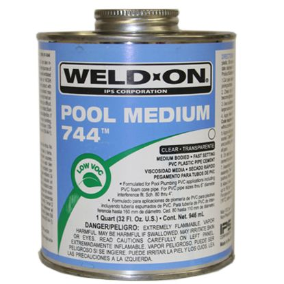1 QT 744 POOL MEDIUM CLEAR CEMENT IPS #12123 MEDIUM BODY IPS13555EACH