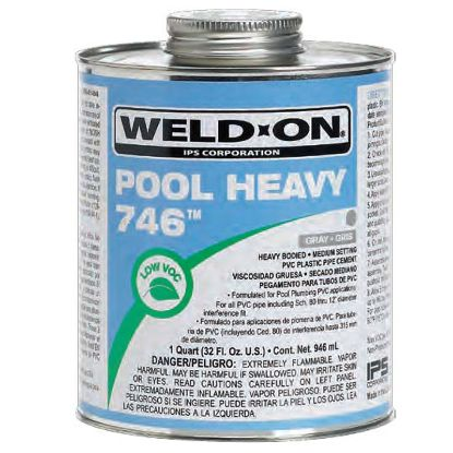 1 QT 746 POOL HEAVY GRAY CEMENT CASE OF 12 IPS #13567 HEAVY  IPS13567