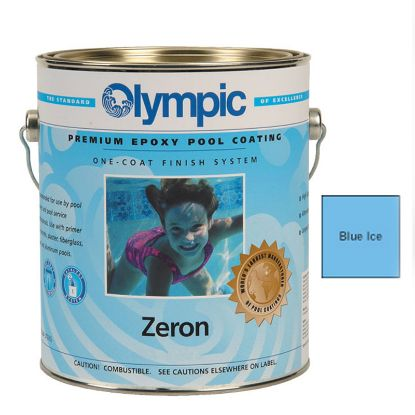 1 QT ZERON 1 COAT EPOXY BLUE ICE OLYMPIC KELLEY PAINT 391