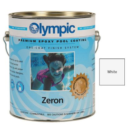 1 QT ZERON 1 COAT EPOXY WHITE OLYMPIC KELLEY PAINT 390 QUART