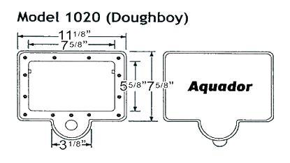 WINTER SKIMMER PLATE FOR 1020 AQUADOR KIT DOUGHBOY ABOVE  1020
