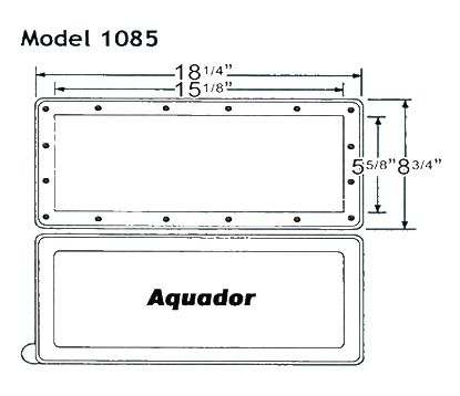 WINTER SKIMMER PLATE SP1085 AQUADOR KIT HAYWARD INGROUND 1085