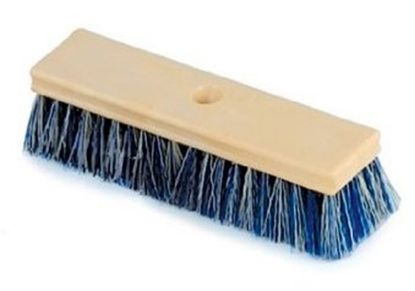 10IN WOOD BRUSH BLUE/WHITE R111584
