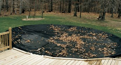 15' X 30' OVAL LEAF NET COVER WINTER BLACK 18' X 33' COVER  45-1530OV-LNT-3-BX
