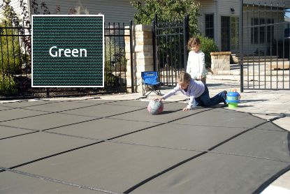 16' X 32' RE PROMESH GREEN IG SAFETY COVER GLI 20-1632RE-PRM-GRN