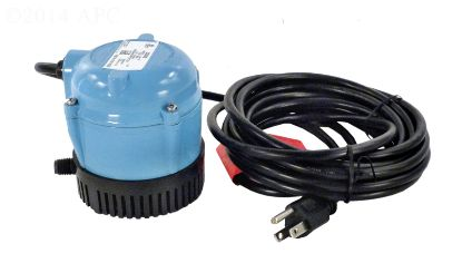 170 GPH 115V POOL COVER PUMP 18' CORD 500500 .25IN MPT  500500