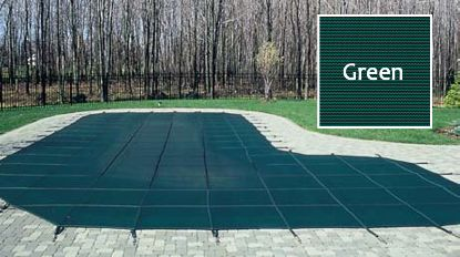 20'X40'RE 4'X8'CTR SAP GRN MESH IG SECURAPOOL SAFETY COVER  20-2040RE-CES48-SAP-GRN