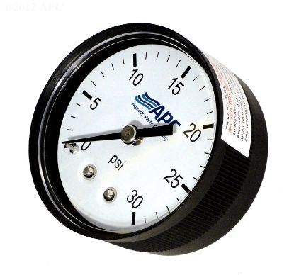 .25IN TAP 0-30# BACK MOUNT PRESSURE GAUGE APCPG3024B