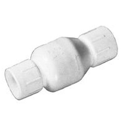 4IN SKT SWING CHECK VALVE PVC FLAP STYLE WHITE FLO CONTROL 1520-40