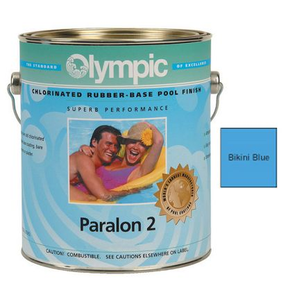 5 GAL PARALON 2 ENAMEL RUBBER BASE BIKINI BLUE OLYMPIC  292 5 GALLON