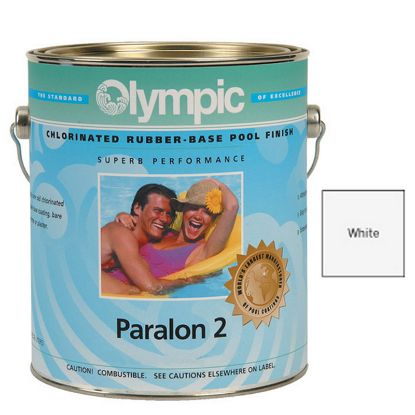 5 GAL PARALON 2 ENAMEL RUBBER BASE WHITE OLYMPIC KELLEY  290 5 GALLON