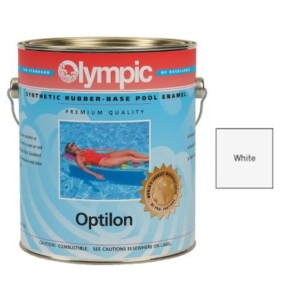 5 GALLON OPTILON SYNTHETIC RUBBER WHITE OLYMPIC PAINT 850-5G