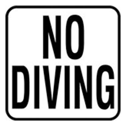 6IN VINYL STICKON NO DIVING MG SERIES INLAYS INFO TILE V621501