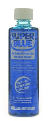 8 OZ SUPER BLUE WATER CLARIFIER 24/CS ROBARB 20152A