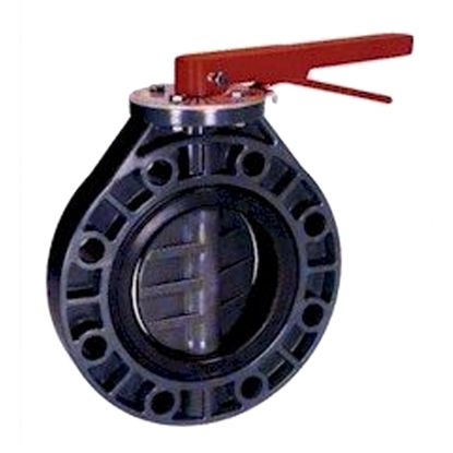 8IN TVI UNIVERSAL STYLE BUTTERFLY VALVE PVC/PP/EPDM WITH  0800ASPX0EEWML