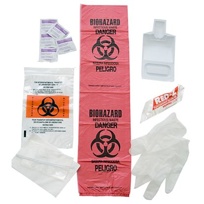 BLOOD SPILL KIT IN PLASTIC BAG 157002