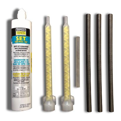EPOXY KIT WITH 4.5IN X 7IN BOLTS SET OF 4 SR SMITH 75-209-5885-SS