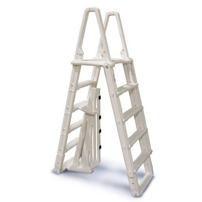 EVOLUTION ABG A FRAME LADDER WITH BARRIER 48-54IN POOLS GRAY 7100X