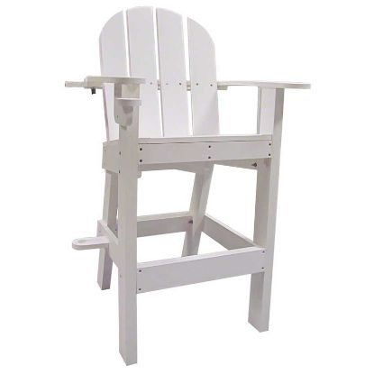 LIFEGUARD CHAIR W/ CUP UMBRELLA HOLDERS WHITE 30INL X 29INW  LG500