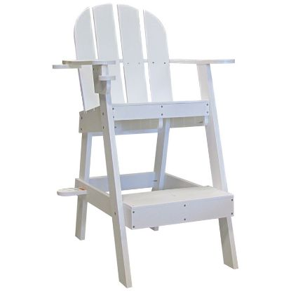 LIFEGUARD CHAIR W/ CUP UMBRELLA HOLDERS WHITE 33INL X 29INW  LG505