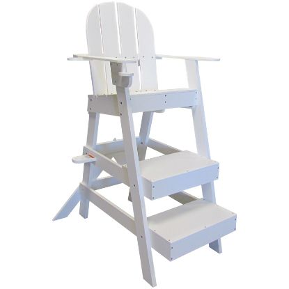 LIFEGUARD CHAIR W/ CUP UMBRELLA HOLDERS WHITE 41INL X 30INW  LG510