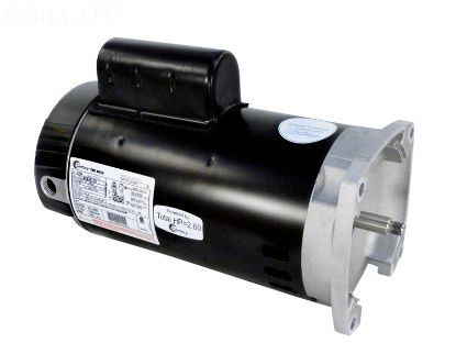 MOTOR 2 SPEED 2 HP HIGH EFFICIENCY 230V SQUARE FLANGE 56Y  B2984