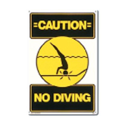 P.MASTER#40344 SIGN-NO DIVING 40344