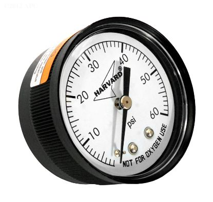 PRESSURE GAUGE .25IN MPT BACK 2IN FACE 0 TO 60# PLASTIC CASE IPPG602-4B