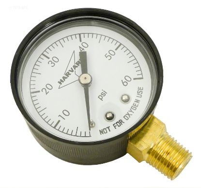 PRESSURE GAUGE .25IN MPT LOWER 2IN FACE 0 TO 60# PLASTIC  IPPG602-4L